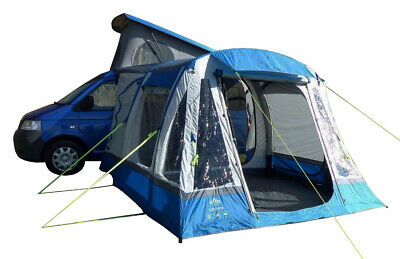 Inflatable Campervan Drive Away Awning - Olpro Loopo Breeze (Blue & Grey)