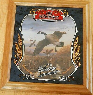 OLD MILWAUKEE Beer Mirror sign - The GOOSE