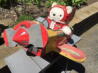 santa bear 1987 plane Store Displace Hudsons Aviator Express Airplane Rare