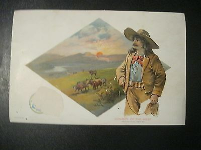 Victorian Trade Card Clark's O.N.T White Cotton Industrial Series COWBOY West 54