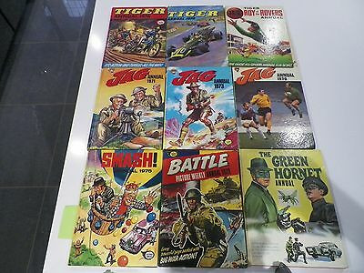 Collection of UK Comic Annuals - Job Lot of 18