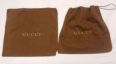 Gucci Dust Bags Lot of Two Drawstring Tops