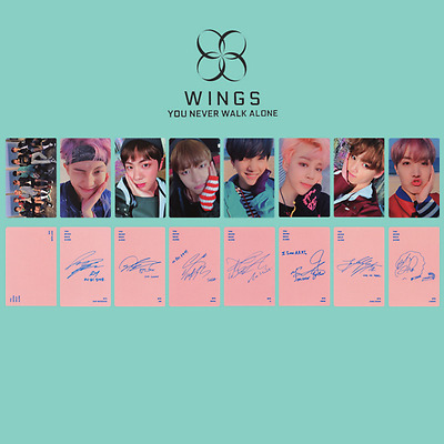 8pcs/set Kpop YOU NEVER WALK ALONE Photo Card Album Photo Card - Unofficial