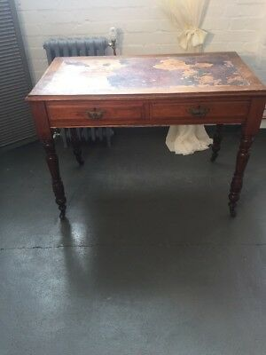 Edwardian writing desk Lovely And Original And In Need Of New Leather