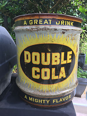 Double Cola syrup can