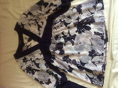 Womens, Floaty Butterly Print Purple And White Top Size Medium