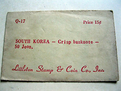 South Korea 50 Jeon 1962 Littleton Stamp & Coin Co, Inc.