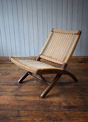 Vintage Mid Century Hans Wegner Style Folding Chair Danish CAN DELIVER