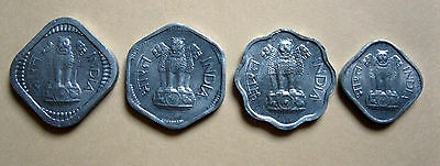 India set of 4 uncirculated coins 1,2,3, 5 Paise Littleton Stamp & Coin Co, Inc.
