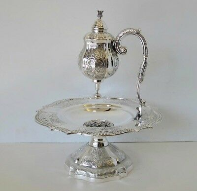 925 Sterling Silver Handmade Balagio Chased Mayim Achrunim Cup & Bowl 18665-0760