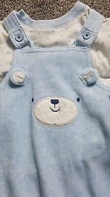 Boys soft dungarees 3 to 6 months