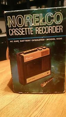 Vintage Norelco Cassette Recorder 1530 With Original Box And Paperwork