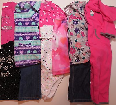 Lot Toddler Girls Sz 24 Months Clothes Fall Winter Outfits Jumping Beans Carters