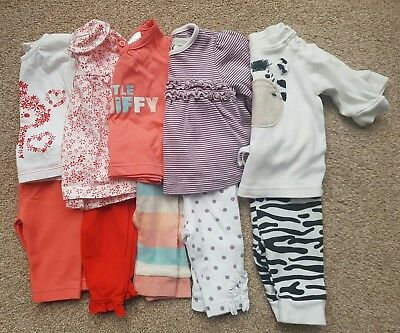 5 x baby girls outfits including Next and Mamas & Papas (newborn & 0-3 months)