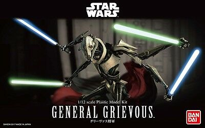 Japan BANDAI STAR WARS 1/12 Scale Plastic Model : GENERAL GRIEVOUS