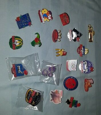 Vintage Lot of 19 McDonald's Employee Crew Lapel Pins