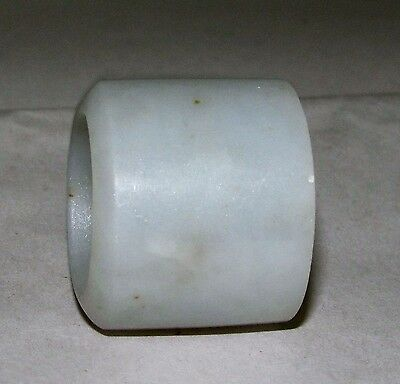 Antique Chinese Qing Celadon Jade Archer's Ring c 1850-1899