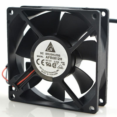 Delta AFB0812H 8025 Cooling Fans DC 12V 0.24A 2pin Heat Cooler Fan 80*80*25mm