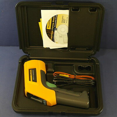 New Fluke 572-2 IR and Contact Thermometer with Graphical LCD Display, Hard CASE