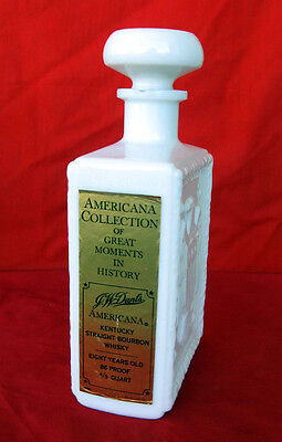 J. W. Dants Americana Collection Great Moments White Bottle - Boston Tea Party
