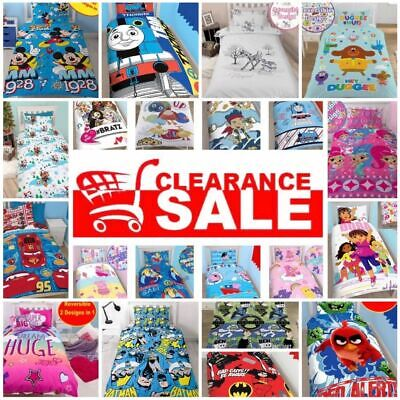 Polycotton & Microfibre Disney Character Kids Duvet Cover Sets Single & Double
