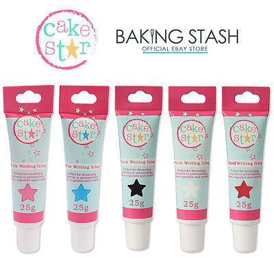 Cake Star Ready to Use Cake / Biscuit Writing Icing Tube - All Colours - 25g