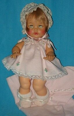 "Unusual 9"" Size! 1964 Vintage BABY BETSY WETSY DOLL BW9"