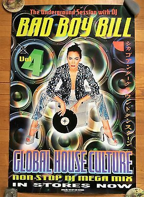 RARE 90's BAD BOY BILL GLOBAL HOUSE CULTURE RECORD STORE PROMO ACID HOUSE POSTER