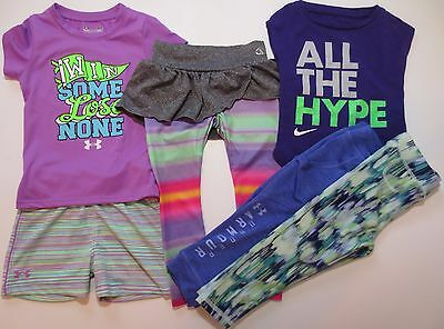 Lot Toddler Girls Size 2T Athletic Clothes Outfits Under Armour Nike Champion