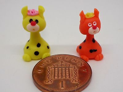 2 x  Hand Made Polymer  Dolls House Miniature Nursery -Toy , Tb