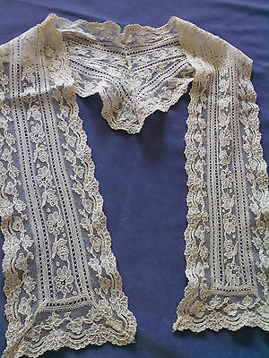 Vintage Hand Embroidered Lace Collar