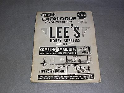 1958 Lee's Hobby Supplies Long Island NY Model Trains Planes Autos Catalog Book