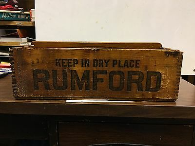 Rumford Baking Powder Carrier, Vintage Carrier Box, Antique Carrier Box
