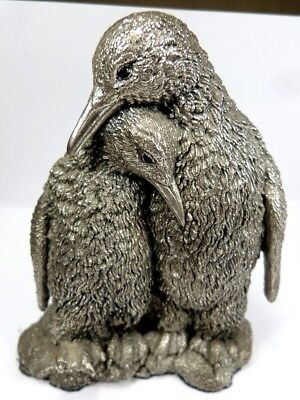 "4"" Inch Hallmarked Silver Country Artists Penguin Statue Figurine Ornament Model"