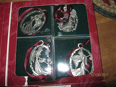 longaberger angel pewter ornaments