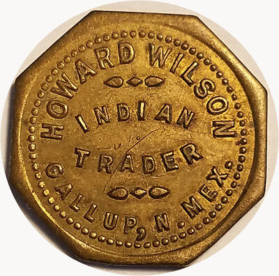 Howard Wilson Indian Trader Gallup, New Mexico NM 1¢ Trade Token