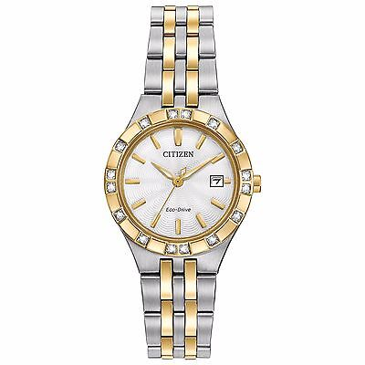 Citizen Eco-Drive Women's EW2334-51A Diamond Accent Two-Tone Bracelet 27mm Watch