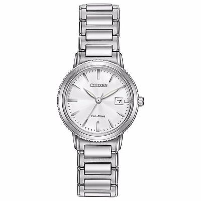 Citizen Eco-Drive Women's EW2370-57A Silver Tone Bracelet 27mm Sport Watch
