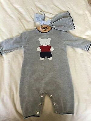 Emile et rose boys outfit with matching hat. size 1 month