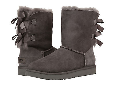 164557e08cc NEW WOMEN BOOT Ugg Bailey Bow Ii Grey 1016225 Water Stain Resistance  Original