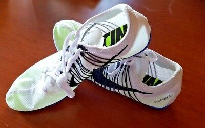 New Nike Zoom Victory Elite Track Field Spikes Distance Carbon Fiber White