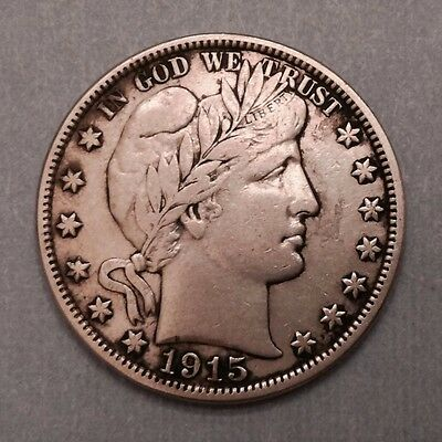 1915 S United States Barber Half 1/2 Dollar