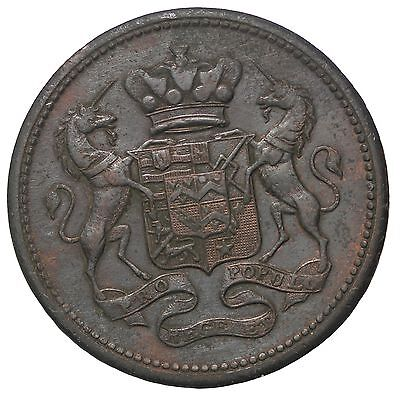 1812 Grea Britain Cornwall Cornish Mines Penny Conder Token Withers-675