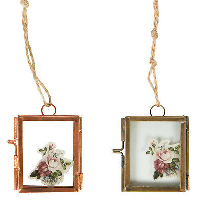 Brass Copper Finish Mini Hanging Vintage Shabby Chic Photo Frame Picture Metal