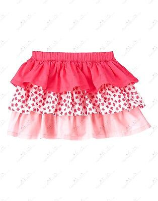 Gymboree 6-12 Months Ruffled Skirt PRETTY POPPY Pink Baby Girls Diaper Cover New