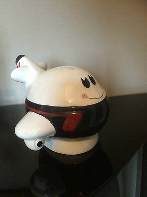 1987 British Airways Dilbert Piggy Bank Money Box Ceramic