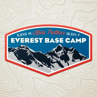 Everest Base Camp Decal Sticker