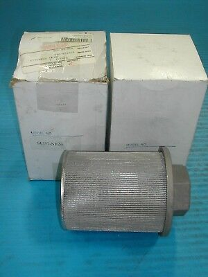 "Lot of 2 1.5"" Servtek Suction Strainer Hydraulic Filter SU57-SF24 NEW IN BOX M8"