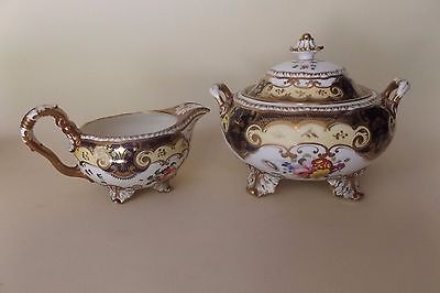 Circa 1820's H & R Daniel Antique English Cream and Sugar Sucrier Pattern #4058