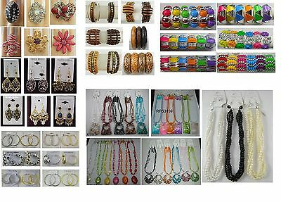 Fashion Jewelry lots 100 Pcs Mixed Earrings Bracelets and Necklaces  #PP10